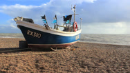 Stock Video Footage of Boat on Sea Shore