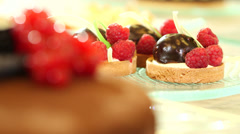 Cakes and sweets Stock Footage