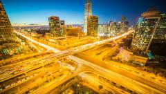 Beijing City CBD sunset time lapse, Prores422 HQ Stock Footage