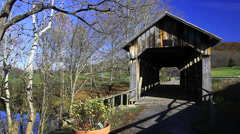 Ringos Mill Covered Bridge, Kentucky Stock Footage