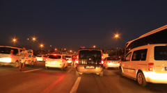 Night traffic stress in the city - stock footage