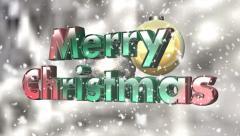 Christmas sign - seamless loop Stock Footage