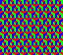 seamless rgb cubes pattern - illustration - stock illustration
