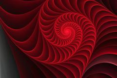 Spiral shell element Stock Illustration