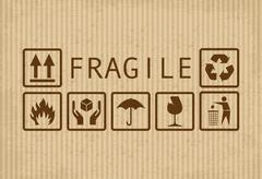 Stock Illustration of fragile symbols
