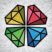 Diamond symbol Stock Illustration