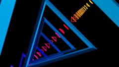 Triangle array glowing Stock Footage
