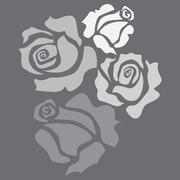 Stock Illustration of four roses
