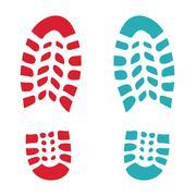 Shoes print Stock Illustration