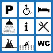 Stock Illustration of camping icons