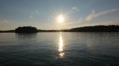 Muskoka summer lake. Stock Footage
