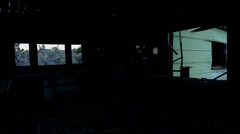Time Lapse of Light Rays in Abandon House during sunrise Stock Footage