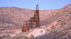 Time Lapse of Abandon Gold Mine at Sunset - stock footage