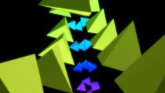 Pyramid neon array Stock Footage