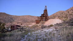 Time Lapse of Abandon Gold Mine at Sunset Stock Footage