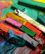 Stock Photo of oil pastels