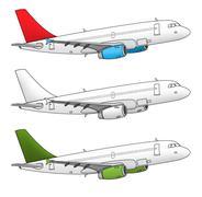 Isolated airplane Stock Illustration