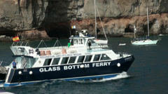 Glass Bottom Ferry in Gran Canaria Stock Footage