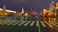 Moscow night cityscape, Red Square, Kremlin and Historical Museum, time-lapse. HD Footage
