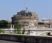 Stock Photo of castel sant'angelo in rome, the old tomb of emperor aurelius