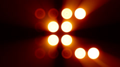 Floodlights Different stage 7 Stock Footage