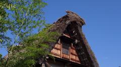 House and Tree in Shirakawago Stock Footage