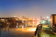 Industrial harbor Stock Photos