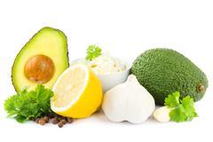 Guacamole ingredients Stock Photos