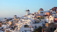Stock Video Footage of Sunset Oia