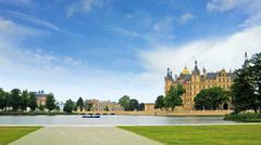 castle of schwerin - stock photo