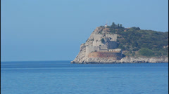 Fortress on the sea - stock footage