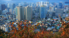 Miniature timelapse in Seoul City Stock Footage