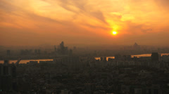 Sunset in Seoul downtown Stock Footage