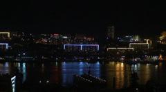 Metropolis. night city Vladivostok Stock Footage