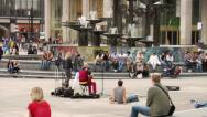 Stock Video Footage of City life - urban scenes. Alexanderplatz, Berlin, Germany. 2