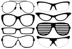 Glasses silhouette Stock Illustration
