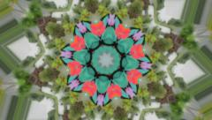 Interesting kaleidoscope background Stock Footage