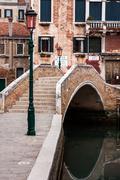 Bridge in venice - stock photo