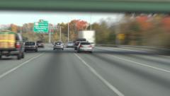 Washington DC beltway Stock Footage