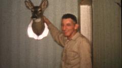 Vintage home movies, deer hunter Stock Footage