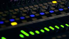 Audio Board Stock Footage