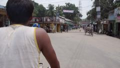 Bangladesh rickshaw ride Stock Footage