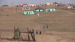 Transkei rural landscape Stock Footage
