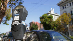 Stock Video Footage of San Francisco Parking Meter