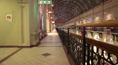 The GUM - State Department Store on Red Square, indoor galeries and passages - stock footage
