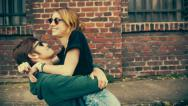 Stock Video Footage of Young couple fooling arround and having fun