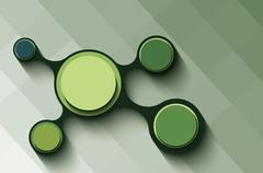 Green info graphics. Stock Illustration