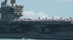 Nimitz-class aircraft carrier USS Nimitz (CVN 68) Stock Footage