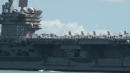 Stock Video Footage of Nimitz-class aircraft carrier USS Nimitz (CVN 68)