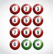 Stock Illustration of dial numbers illustration design balls